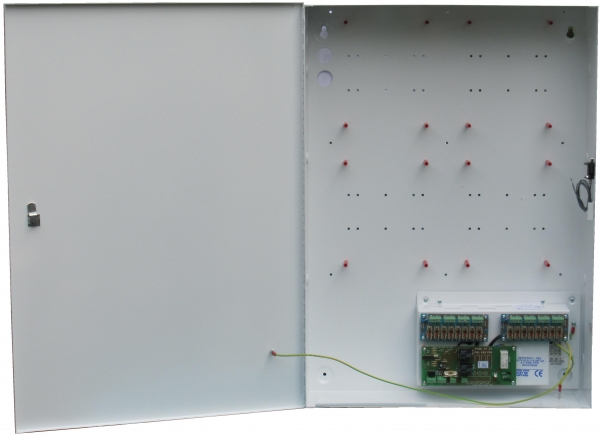 12V @ 8 Amp Power Supply with facility to mount 4 Access Control Panels