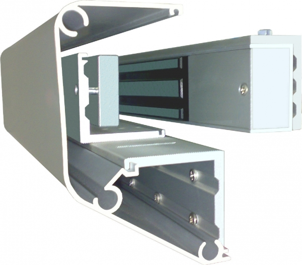 EM600-ZL-Cover Architectural Housing with Z & L Brackets for Inward Opening doors for use with our EM600 Series Locks