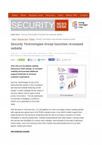 New Web Site Announcement in Security News Desk