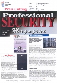 Professional Security Case Study and Guardian Reader Anouncement